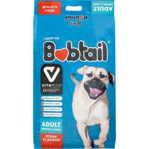 Bobtail - Medium To Large - Steak Flavor - 8kg